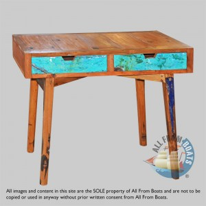 console tables out of boatwood
