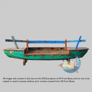 sofas out of javanese fishing boats